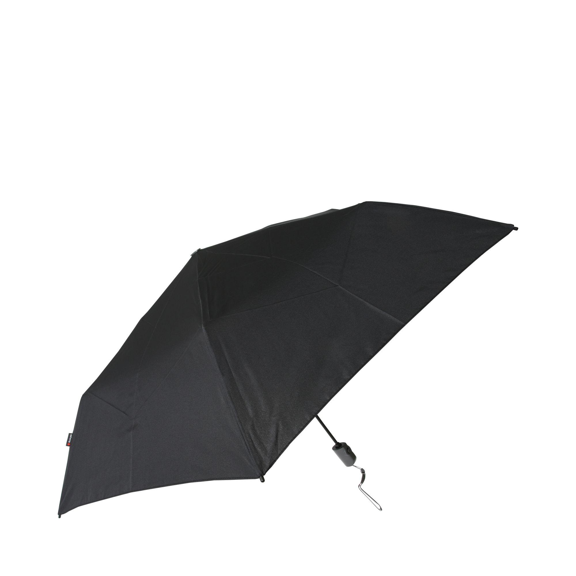 Knirps Flat paraply, Svart