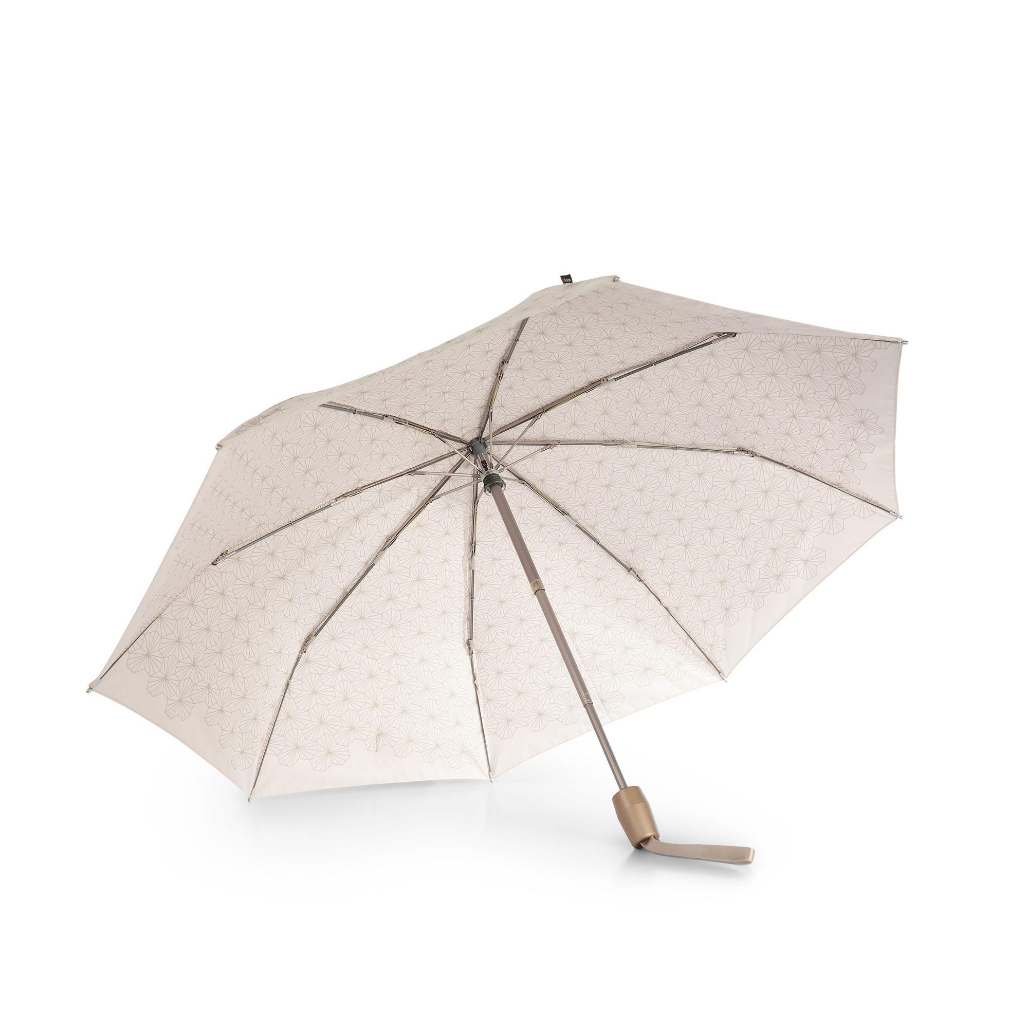 Knirps T2 paraply, Beige med mönster