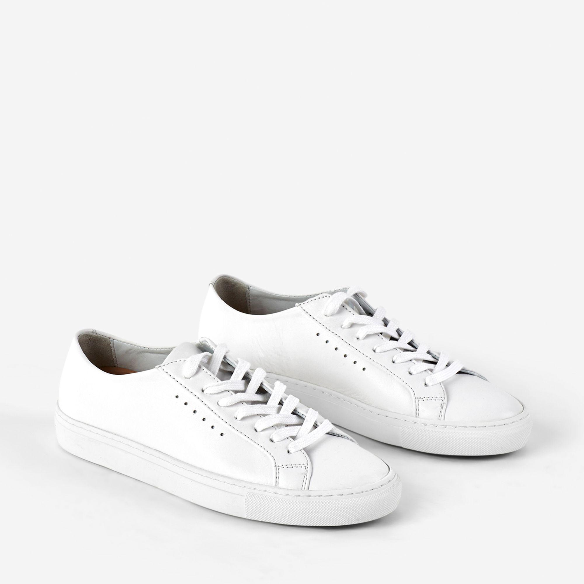 Filippa K Kate Low Sneaker sneakers i skinn, Vit, 37