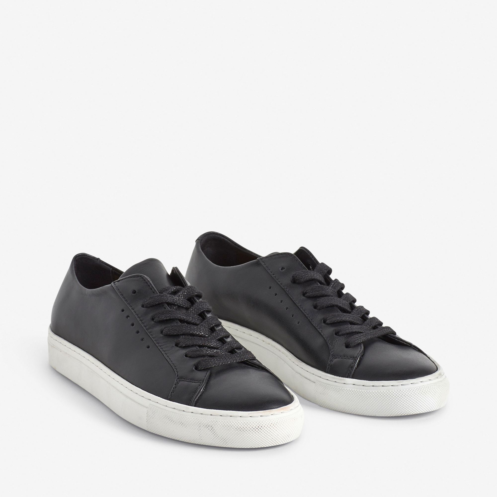 Filippa K Kate Low Sneaker sneakers i skinn, Svart, 36