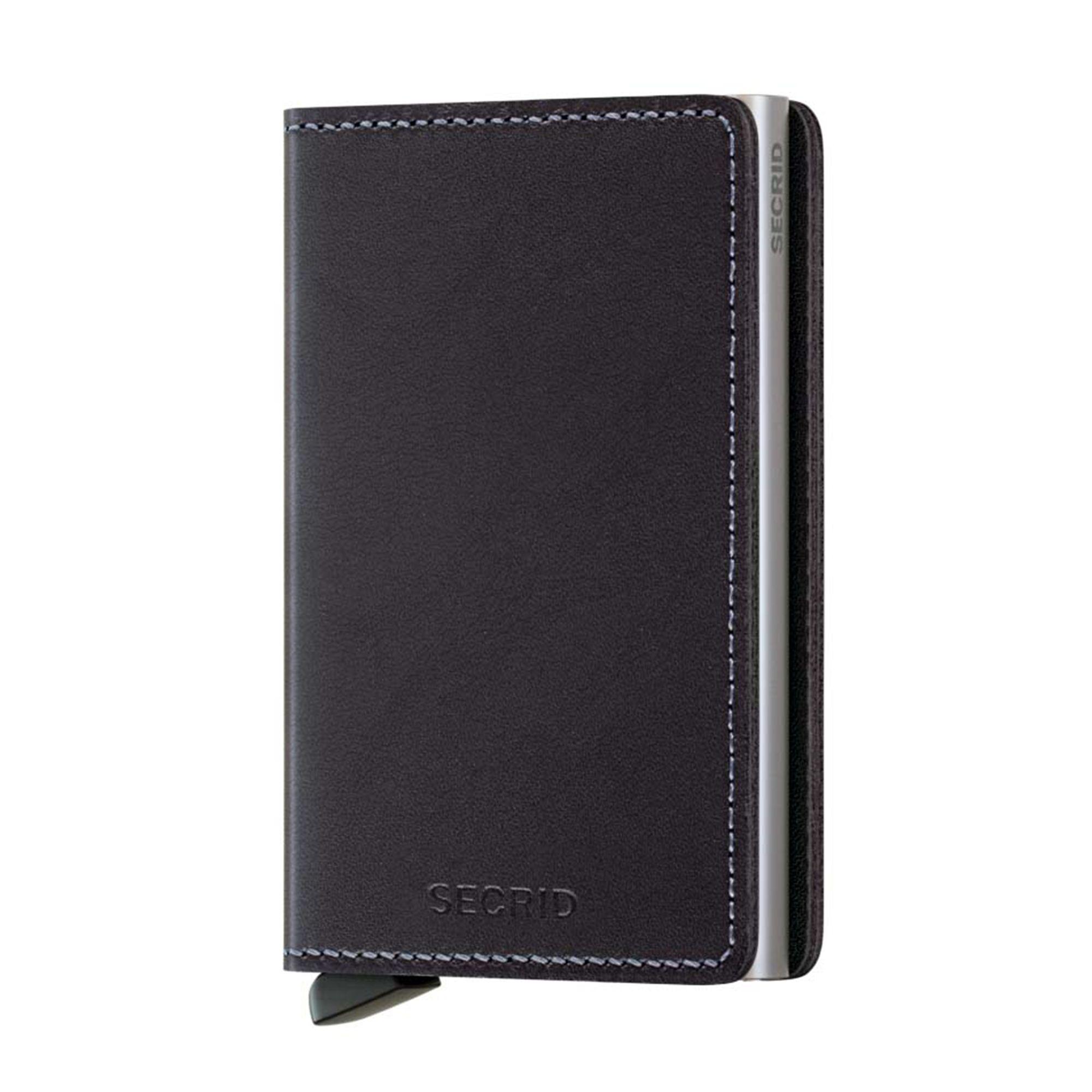 Secrid Slimwallet liten plånbok i skinn och metall, Svart