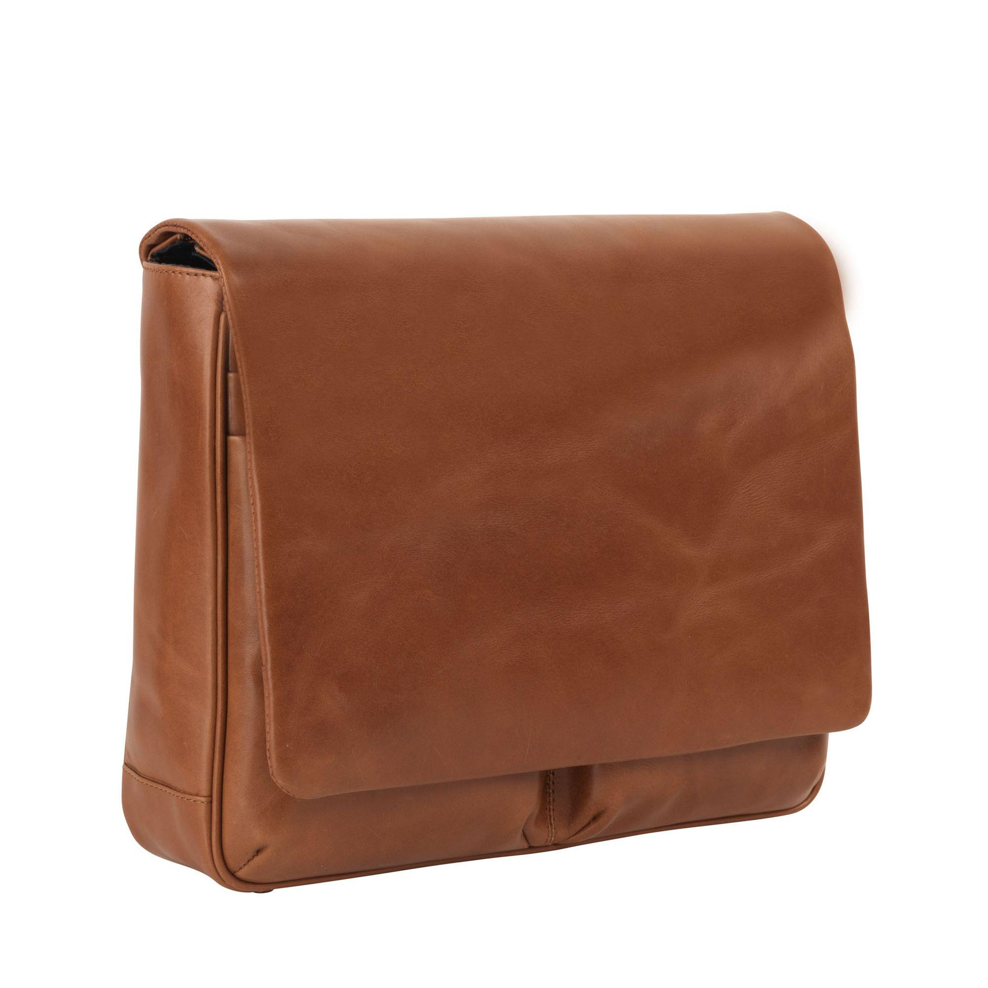 messenger väska skinn