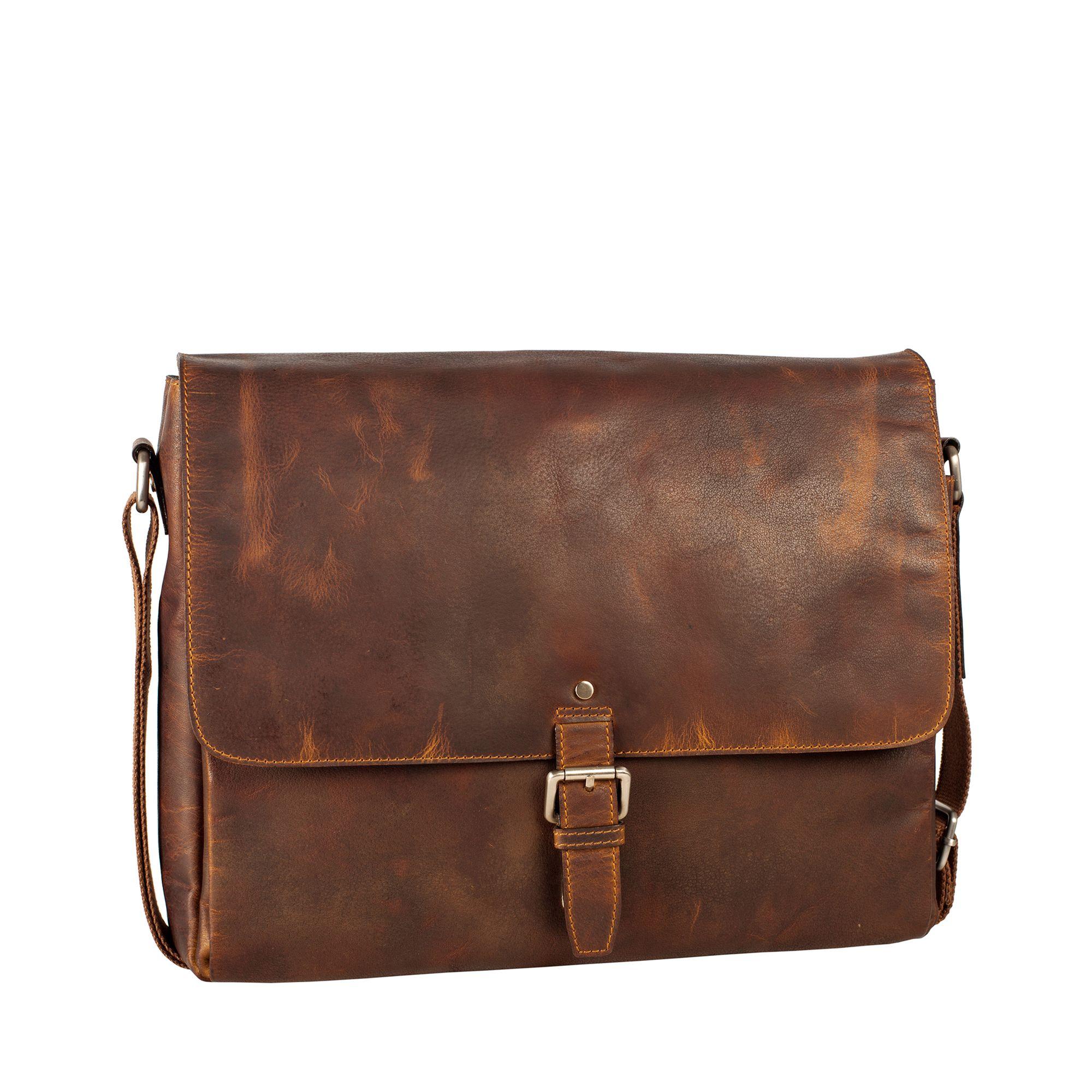 Leonhard Heyden Glasgow Large Messenger väska i skinn