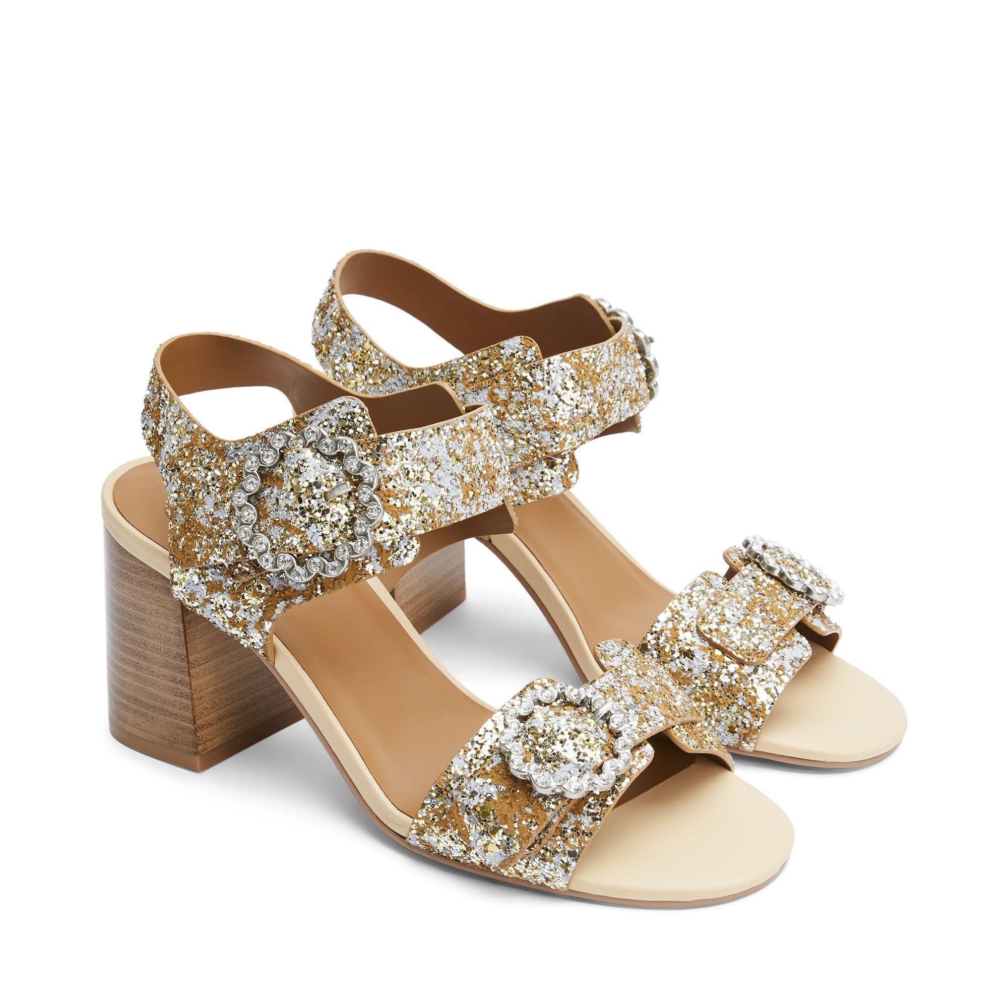 See By Chloé Kristen sandaler med klack, Guld, 36