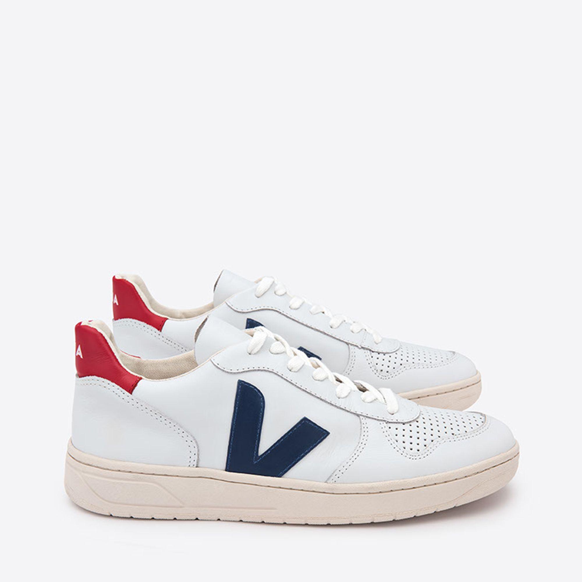 176ad4a2a64 Veja V-10 sneakers i skinn, Vit, 41