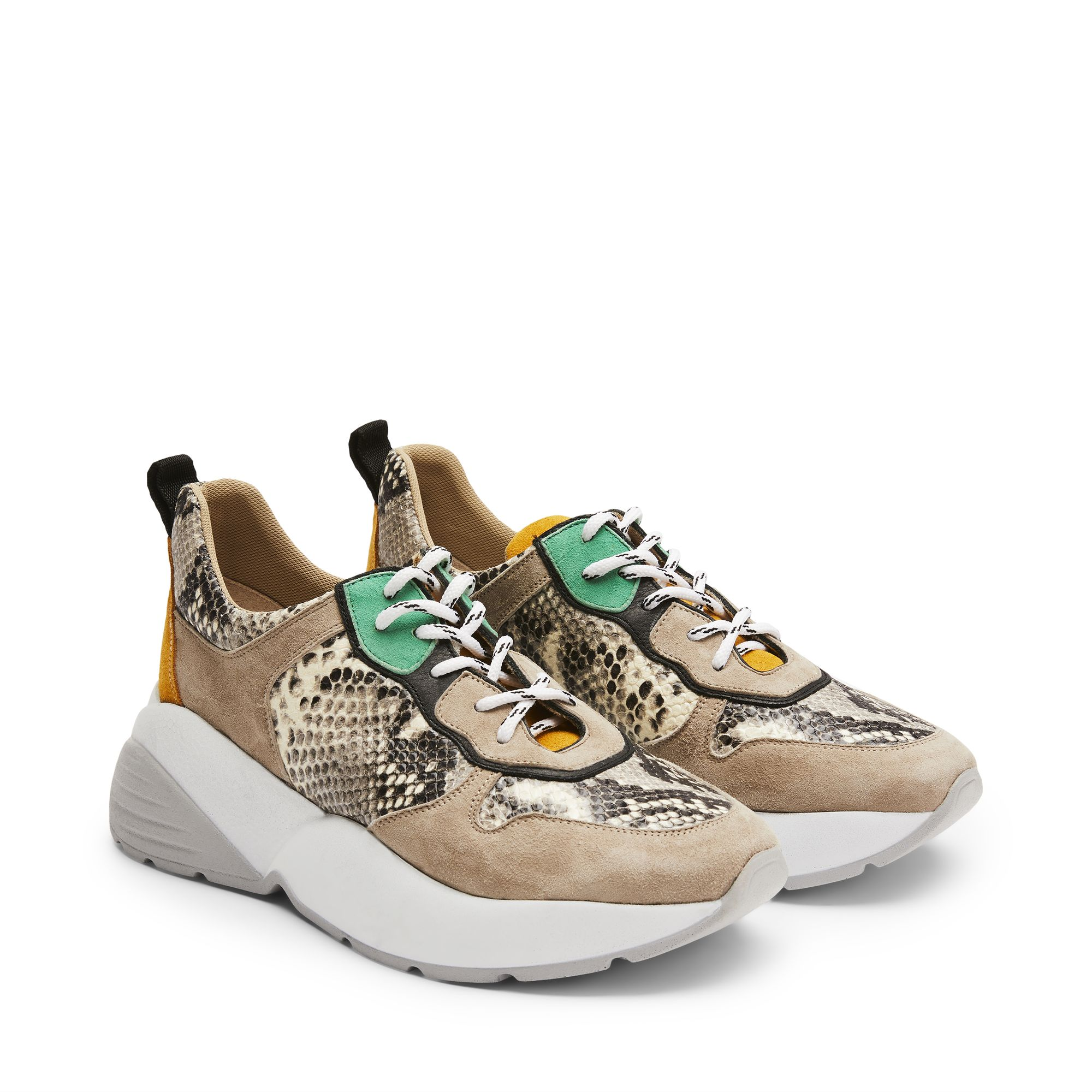 a79cff3c20b Rizzo Adela chunky sneakers i skinn/mocka, Snake, 41 | Damskor