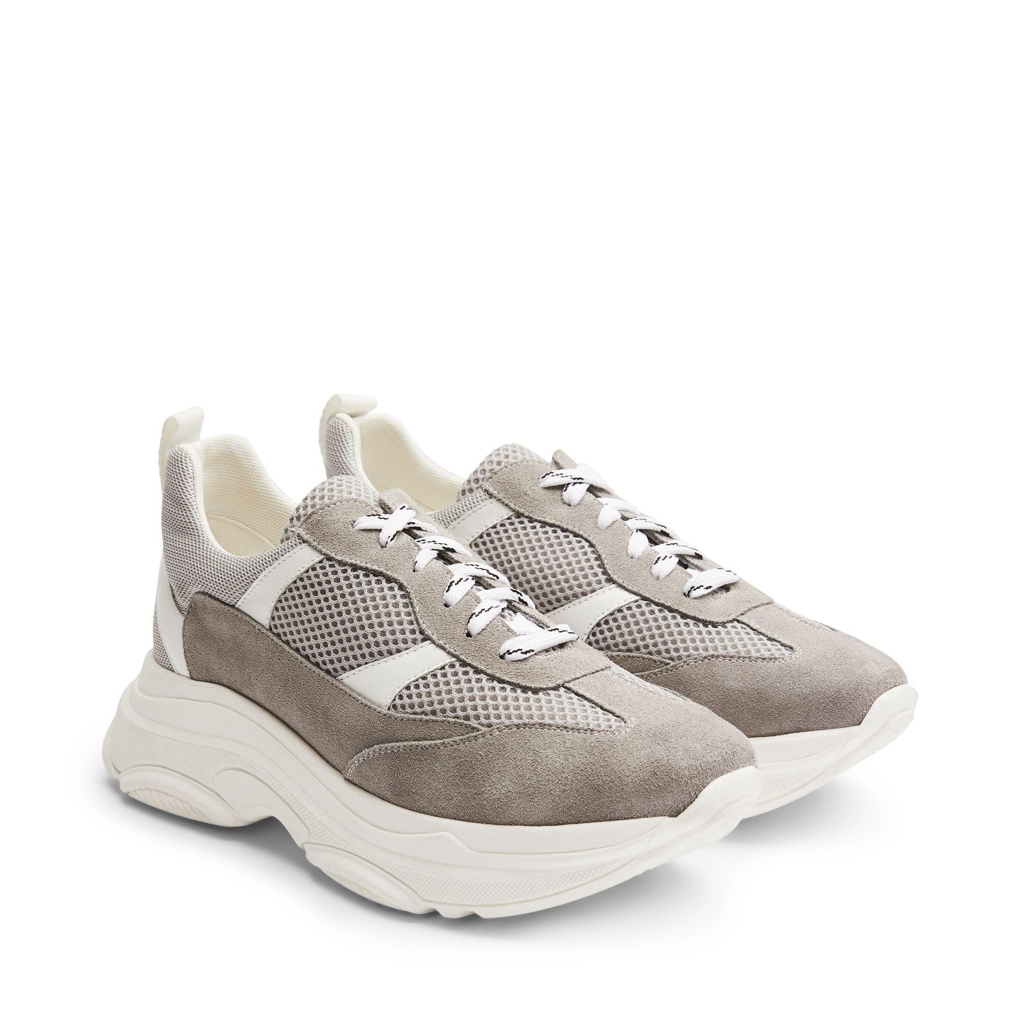 f58d4b86d95 Rizzo Aida chunky sneakers i mocka, Grå, 39 | Damskor