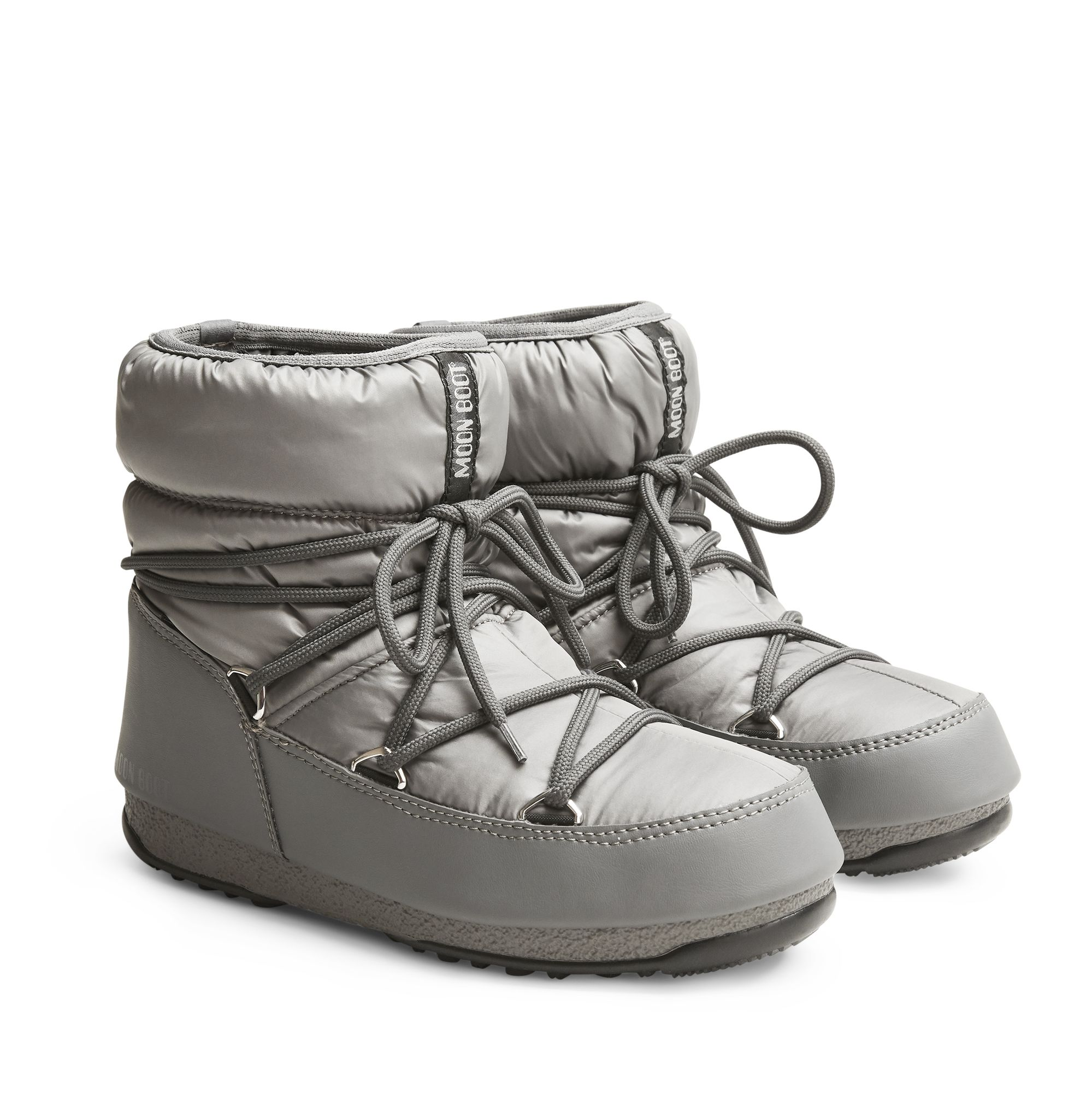 Moon Boot Low Nylon WP 2 vinterboots, Grå, 36