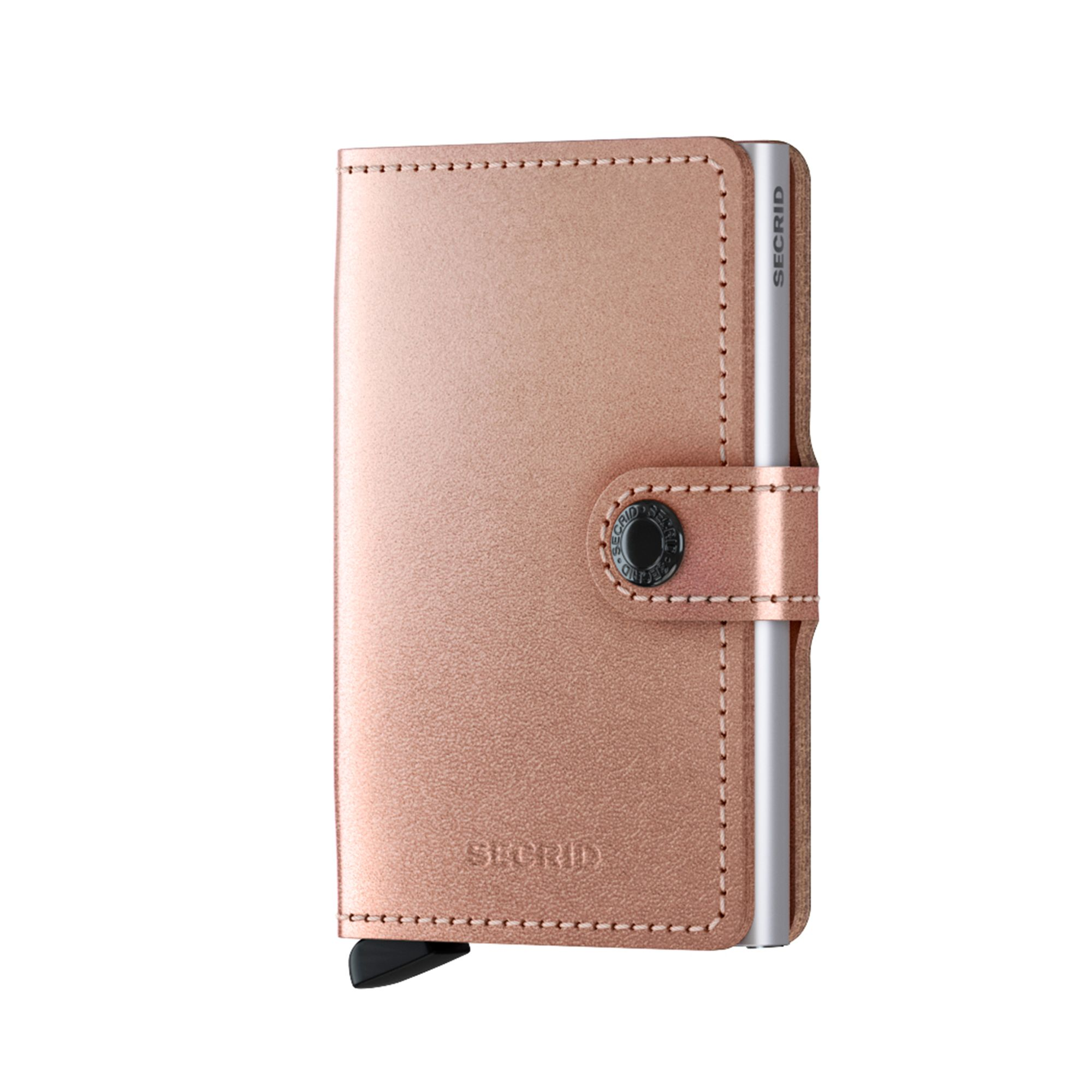 Secrid Miniwallet Metallic liten plånbok, Koppar